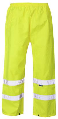 TROUSERS & FLEECES HI VIS TROUSERS Featuring an elasticated waist, these simple Hi-Vis Trousers are an essential item for your hi-vis range.