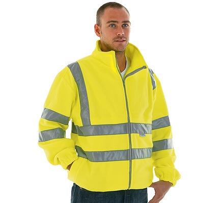 Hi-Vis Fleece Jacket Ref: Pro Viz Fleece Sizes: S-3 x XL EN471 Class 3 Two zip fastening pockets Anti-pill outer