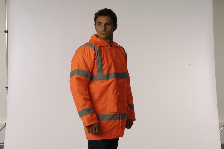 10 Hi-Vis 2 Tone Anorak Ref: VWJK 05 Sizes: S-5 x XL EN471 Class 3 Polyester lining Taped seams for improved water
