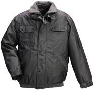 Water-repellent pilot jacket in Cordura with quilted lining and fl eece collar. Wire passages for headset. Size XS-4XL.
