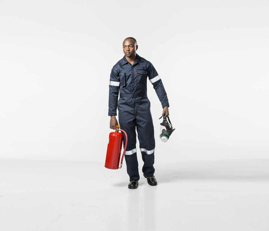 FIRE boilersuit RB NB Two-way NOMEX YKK concealed brass zip Fully triple stitched garment throughout 50mm silver flame retardant double needle stitched reflective tape on arms and legs Two-way radio