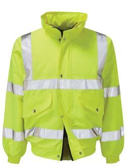 THE HI-VIS BOMBER JACKET Safety first is our motto.