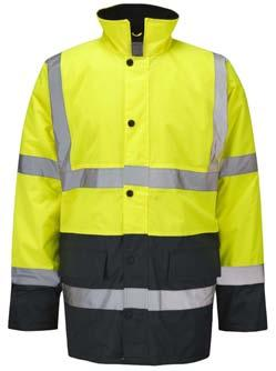THE HI-VIS COAT Working outside? Poor lighting or weather conditions? You need this hi-vis jacket.