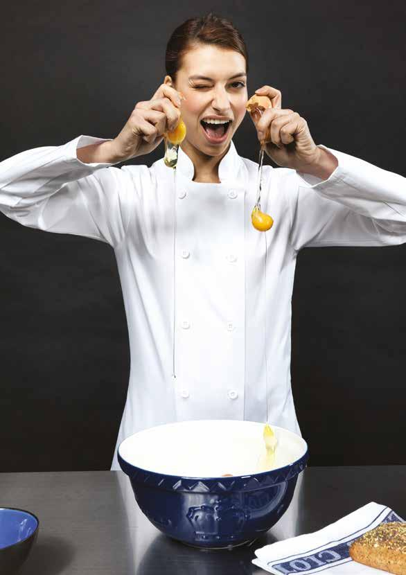 FITTED S T Y L E S Ladies' CHEF S JACKETS Ladies Short Sleeve Chef s Jacket PR670 Short sleeve