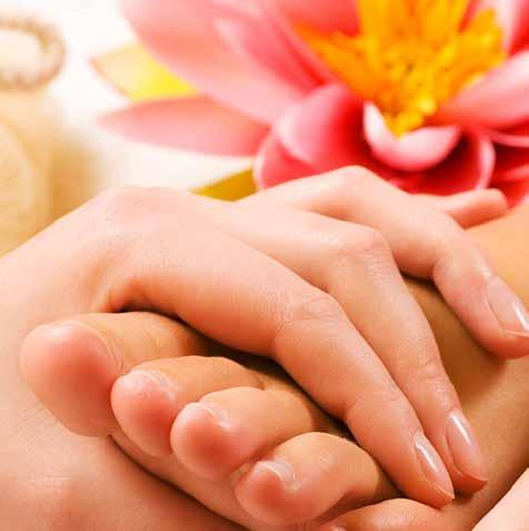 SENSUOUS HANDS AND FEET A Spa Manicure................................................................ 19,00 includes-cuticle tidy, nail shaping, hand massage and painted with nail varnish of your choice.