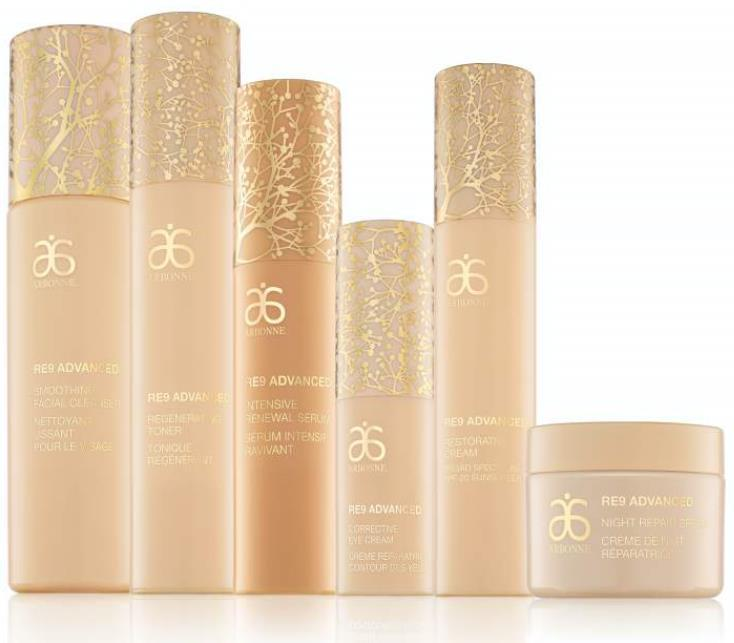 RE9 Advanced Collection Story Formulated with innovative botanical stem cell technology along with algae extract, peptides and botanicals, the products contain ingredients to provide clinically