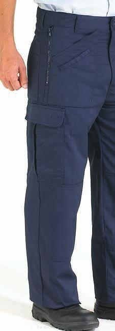 8 WORK SAFE POLYCOTTON TROUSERS WORK SAFE POLYCOTTON KNEEPAD TROUSERS Two side swing