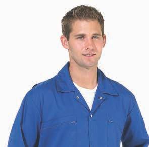 8 WORK SAFE CLASSIC POLYCOTTON COVERALLS WORKWEAR WORK SAFE