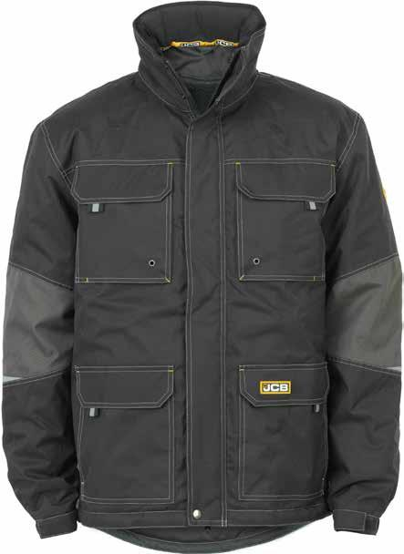 BAMFORD Jacket D-WM Front pockets with flap and hook and loop fastening Adjustable draw string hood concealed in collar Warm detachable zipped lining Contrast fabric at elbows and reflective trim Two