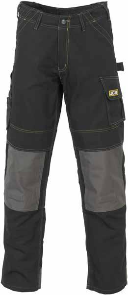 CHEADLE Pro Work Trouser D-WC / D-WD Rear belt loop Tool pocket Hammer loop Reinforced thigh pocket with fastening Top loading, adjustable kneepad pockets in durable, water resistant Oxford fabric