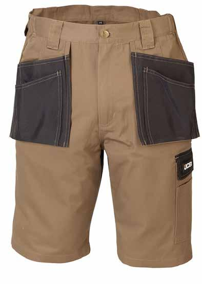 KEELE Shorts D-WU Rear pocket Comfort fit waistband Front tool holster pockets All pockets double stitched Triple stitched seams for durability