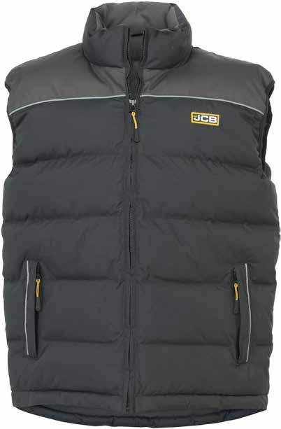 SUDBURY Body Warmer C-BU Well-padded for additional warmth Durable oxford fabric on shoulders High visibility piping Thermal fleece lining for warmth Two lower zipped hand warmer pockets Two inner