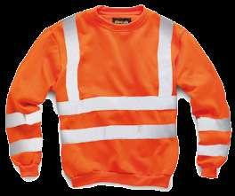 MATERIALS: 100% polyester Orange Yellow HV009 Security Sweatshirt Security
