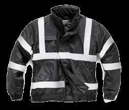 HV016 Security Bomber Security Bomber Fleece lined storm collar & warm quilt lining Mobile phone pocket Studded storm flap Concealed hood Elasticated