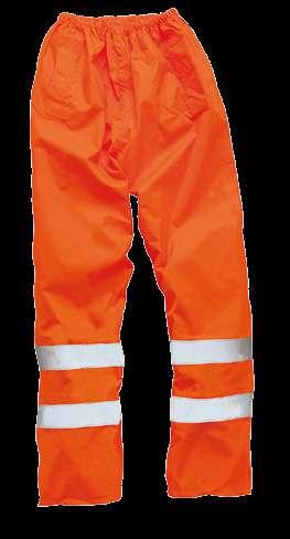 ISO 20471:2013 Class 1 Orange colour meets GO/RT 3279 Issue 8 Two pant/hip pockets