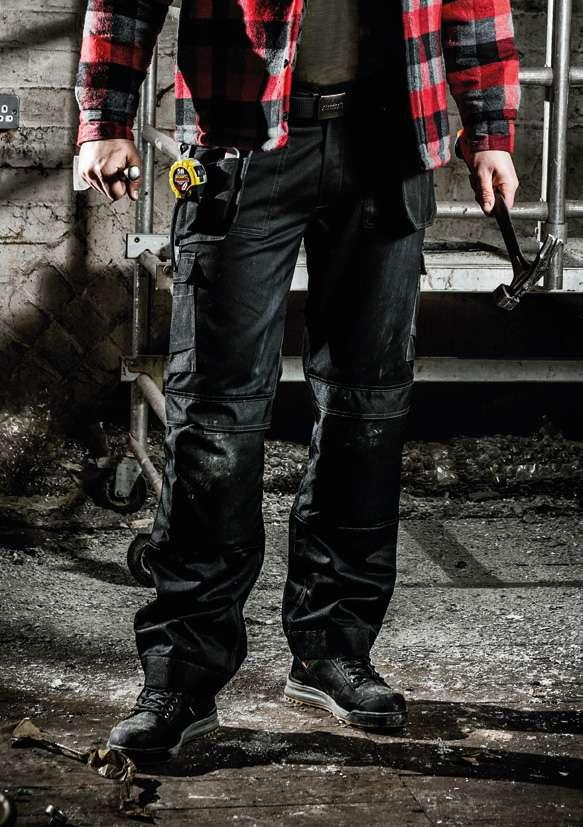 pages 32-33 WORK TROUSERS Strong build quality and rigorously tested materials characterise the StandSafe workwear collection.