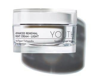 ADVANCED RENEWAL NIGHT CREAM LIGHT Extracts of marine algae, muscadine grape, and