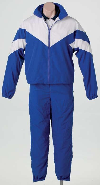Uniform 061 Contrast microfibre tracksuit A fantastic looking Microfibre Tracksuit. This garment is fully lined with a Poly/Cotton interlock lining which will provide extra warmth in winter.