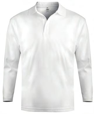 sleeves and side vents Men s/unisex has three-button placket and one-inch extended tail; Ladies has four-button placket; Ladies with Johnny collar has two-button V-neck