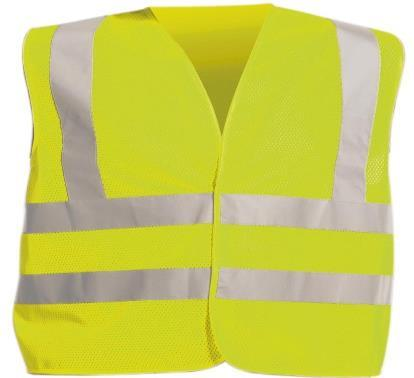 490611 Uni Fluo-yellow 490612 Uni Fluo-orange Traffic safety vest Cerva QUOLL Made of special