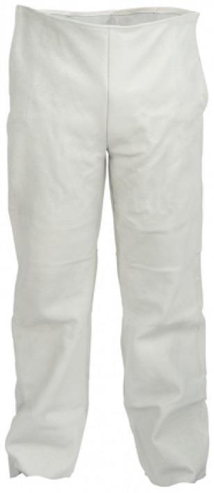 3XL White Welding trouser SafeWorker DALLAS Made of cow grain leather.