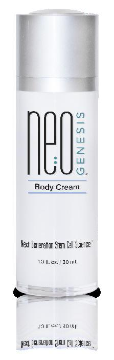 Safe ingredients for all skin types Provides maximum conductivity for microcurrent The perfect vehicle to deliver companion ingredients into the skin Body Cream NeoGenesis Body Cream is a luxurious,