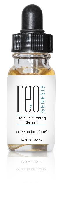 HAIR LASH BROW Hair Thickening Serum NeoGenesis Hair Thickening Serum contains S²RM, our patented exosome-based system that delivers stem cell released molecules from three adult stem cell types to