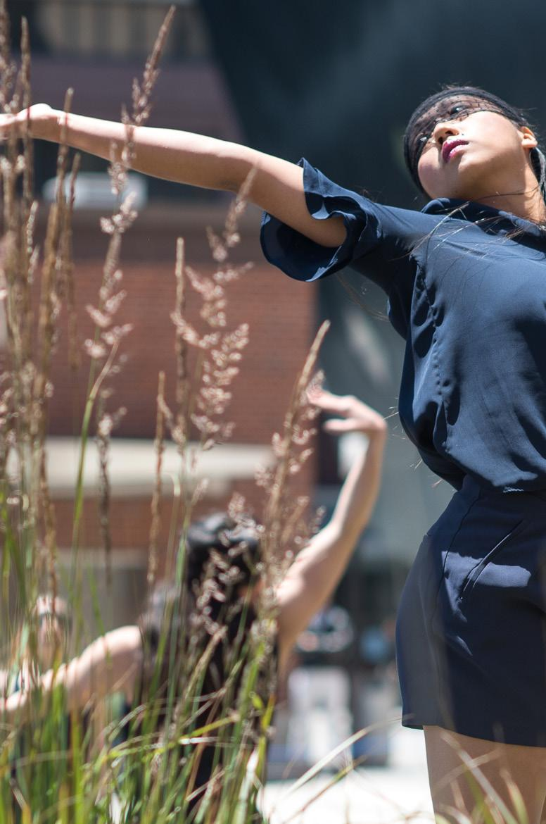 Architecturally inspired site-specific dance for a large ensemble Requiem Performed one year following the tragic events at Pulse, Orlando, Requiem was created as an offering to the 49 human beings
