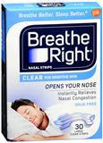 80 BREATHE RIGHT NASAL STRIPS CLEAR LARGE