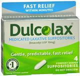 GASTROINTESTINALS DULCOLAX 10MG RECTAL