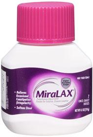 Over-the-Counter Health Products GASTROINTESTINALS MIRALAX PWD 7 DOSES 4.1OZ 202-4693 $9.