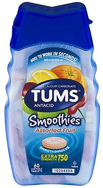 60 TUMS EXTRA STRENGTH SMOOTHIES TAB ASSORTED FRUIT