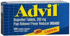 PAIN RELIEVERS ADVIL 200MG CAPLET 100CT 193-2979 $16.