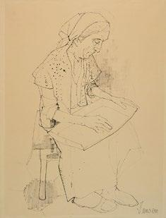 15 JANSEM, Jean (1920-2013) Untitled Ink on Arches paper Signed on the lower right: