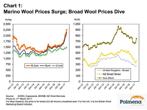 Can the Superfine Price Surge Continue? 2017 has started spectacularly for Merino wool prices, particularly for superfine wool, after an extended 18-month period of unusually stable prices.