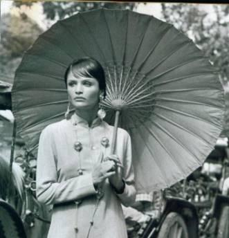 Figure 4.47 illustrates the occurence of umbrella or parasols in American Vogue.