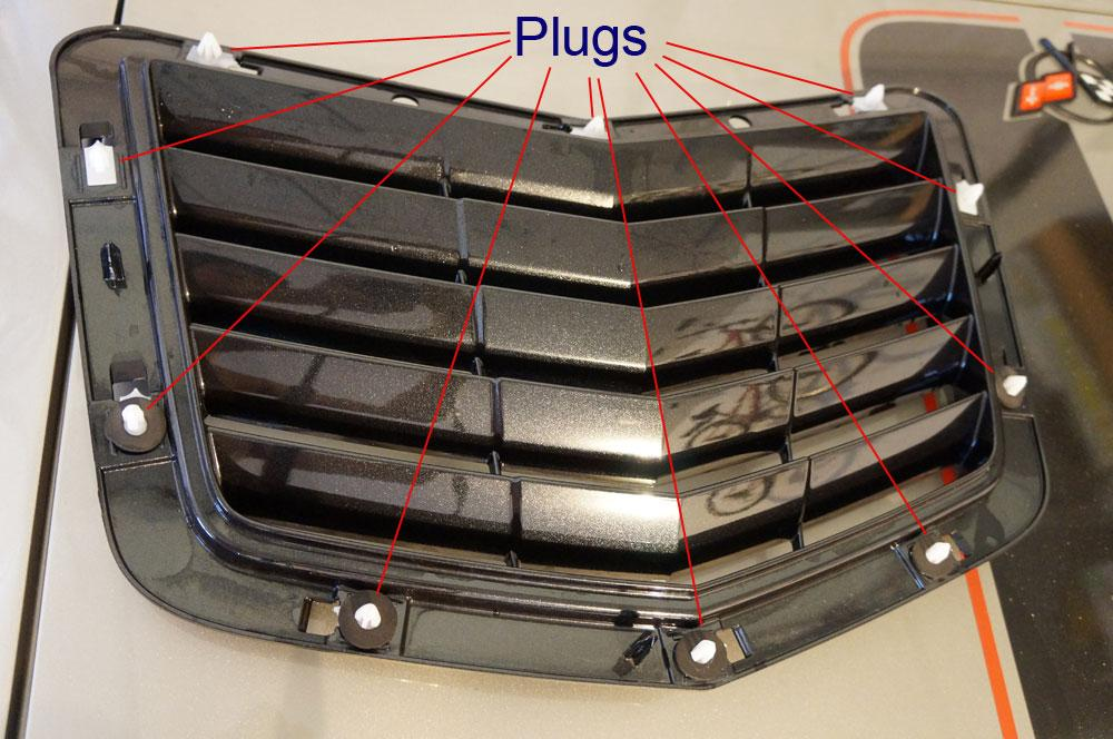 C7 Corvette Stingray Stinger Instruction This water drain tray got held by 4 clips so just