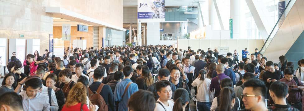 FAIRS HAPPENINGS Simple designs dominate HKJMA FAIR A more upbeat sentiment prevailed at the 25 th Hong Kong International Jewelry Manufacturers Show in November last year, with jewellery pieces in
