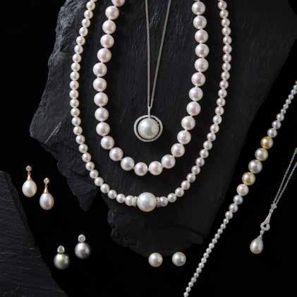 Freshwater pearl & diamond 3 7 4 5 6 8 3 1. Akoya & South Sea pearl necklace set with diamond rondels 2. Akoya pearl necklace 3.
