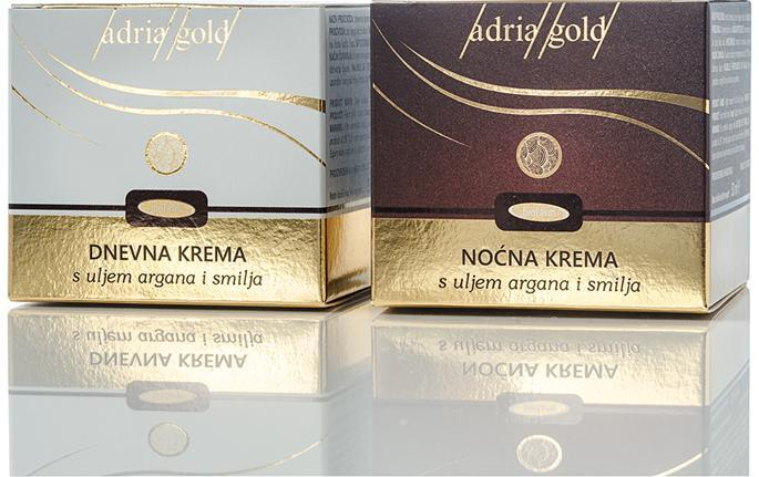 ADRIA GOLD DAY AND NIGHT FACE CREAM INSPIRED BY BEAUTIFUL AND HEALTHY SKIN.