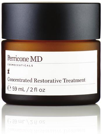 treatment Concentrated Restorative Treatment Delivers a healthy complexion with Vitamin C Ester Smoothes the appearance of fine lines and wrinkles Helps to restore radiance and promotes luminosity M