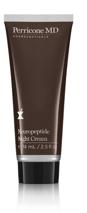 elasticity and suppleness, absorbing effortlessly on contact with the skin Suitable for damaged skin from overexposure to the environments Neuropeptide Night Cream NEW night treatment