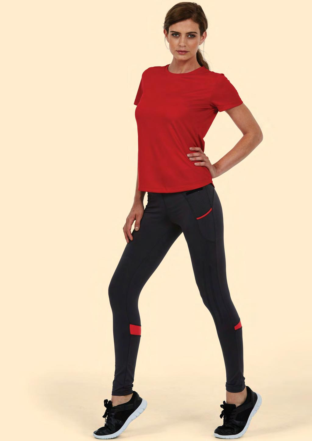 SPORTSWEAR UC316 LADIES ULTRA COOL T-SHIRT 140 30 80/10 100% Polyester Textured Breathable Fabric with Wicking Properties Crew Neck Taped Shoulder to Shoulder Hemmed