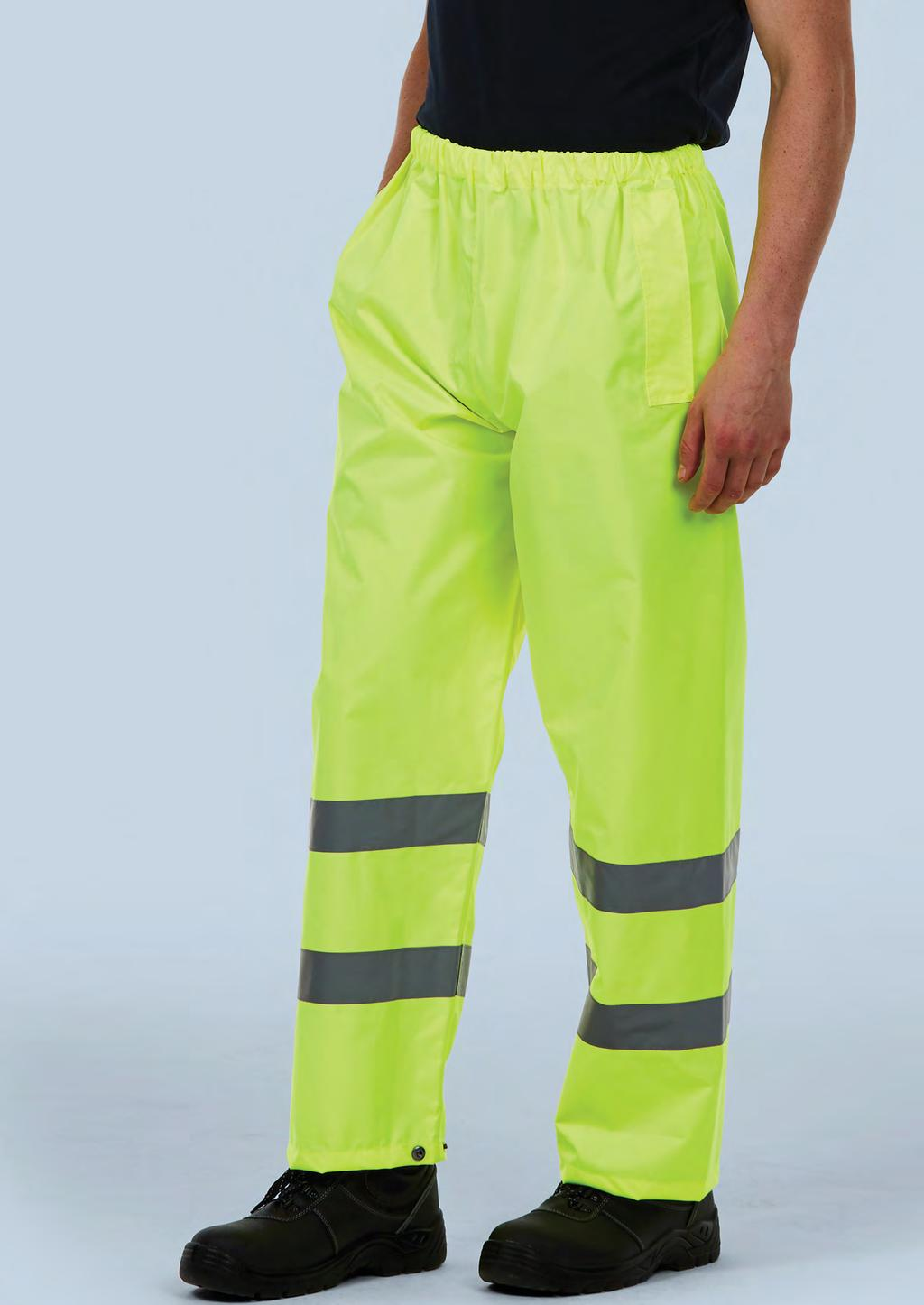 HI-VIS UC807 UNISEX HI-VIZ TROUSER 300 DENIER 60 50/1 EN ISO 20471:2013 Class 1 Approved EN 343 Class 3:1 Approved GO/RT 3279 Issue 8 (Orange Only) Conforming to 89/686/ EEC Directive