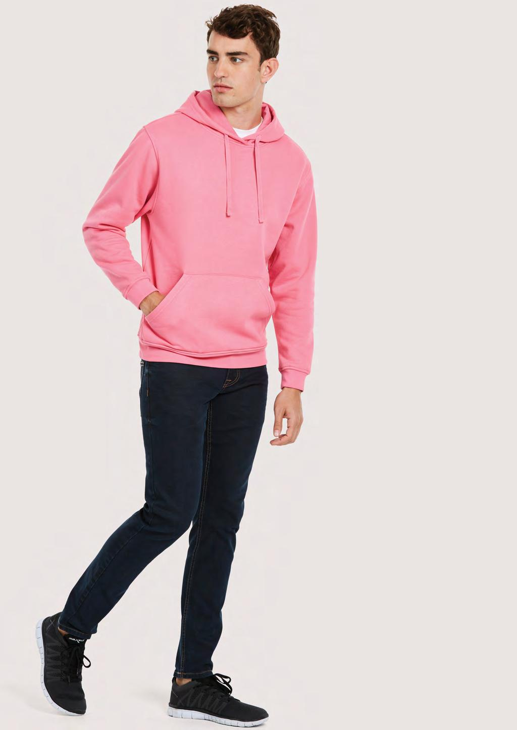 SWEATSHIRTS UC509 UNISEX DELUXE HOODED SWEATSHIRT 280 60 20/10 60% Pre Shrunk Ring Spun Combed Cotton 40% Polyester Super Soft Luxurious Feel Fabric Reactive Dyed Lycra Ribbed Cuffs & Welt Twin