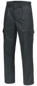 FLAMMGARD 2 TROUSERS Single-coloured waistband with hook fastening 2 pleats at the front, 4 darts at the back covered zip fastener 2 wing pockets 1 recessed back pocket with flap and zip 2 bellow