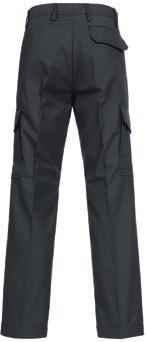FLAMMGARD Pockets with flap and Velcro Adjustable elastic hem 3 TROUSERS Single-coloured waistband with hook fastening 2 pleats at the front, 4 darts at the back covered zip fastener 2 wing pockets 1