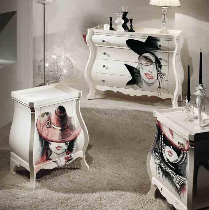 88 comò/chest of drawers GLAMOUR comodino/bedside