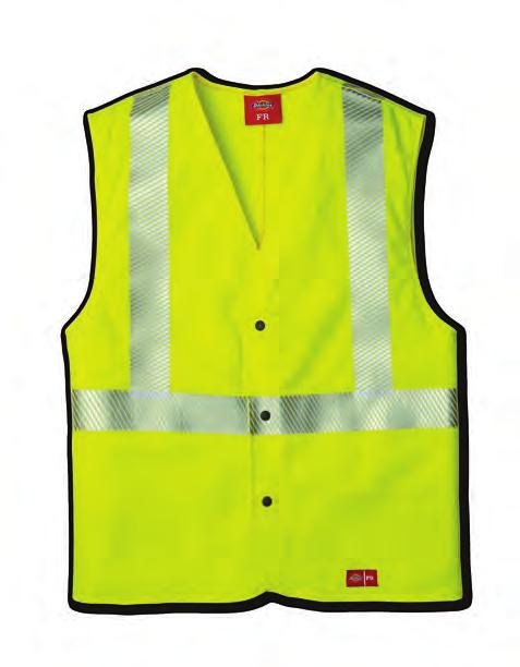 HI-VIS HI-VIS WORK SHIRT Meets ANSI/ISEA 107-015 Class, Type R requirements Industrial laundry friendly -inch segmented 3M