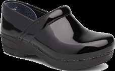 4. Removable leather-covered dual density PU footbed with Dansko Natural Arch technology and memory foam for